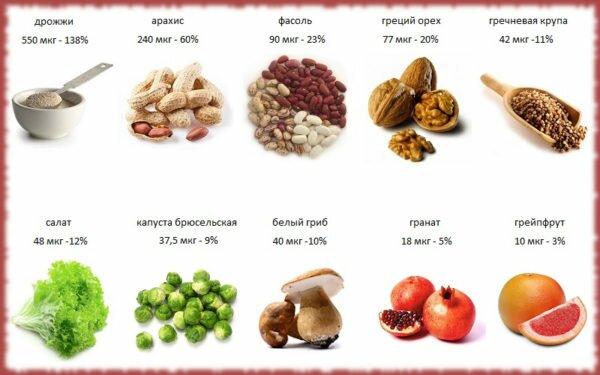 Фолиевая кислота: в каких продуктах содержится